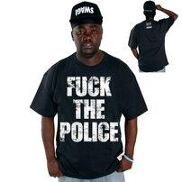Cocaine Life Fuck The Police Pólo Fekete