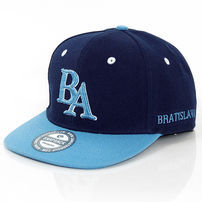 GangstaGroup BA Bratislava Logo Snapback Cap Navy Light Blue