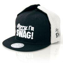 GangstaGroup Sorry I`m Swag! Dog Ear Winter Cap Black