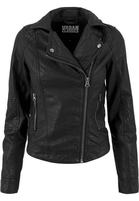 Női dzseki Urban classics Ladies Leather Imitation Biker