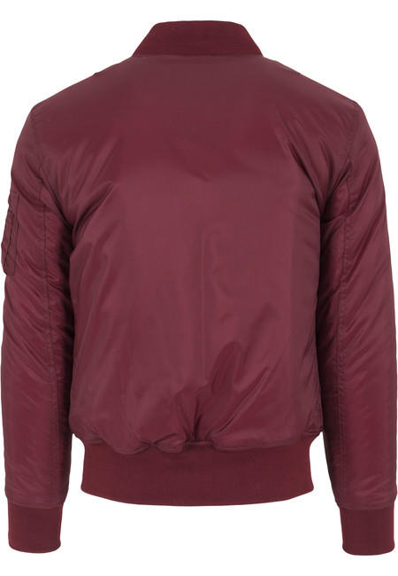 Urban Classics Basic Bomber Jacket burgundy