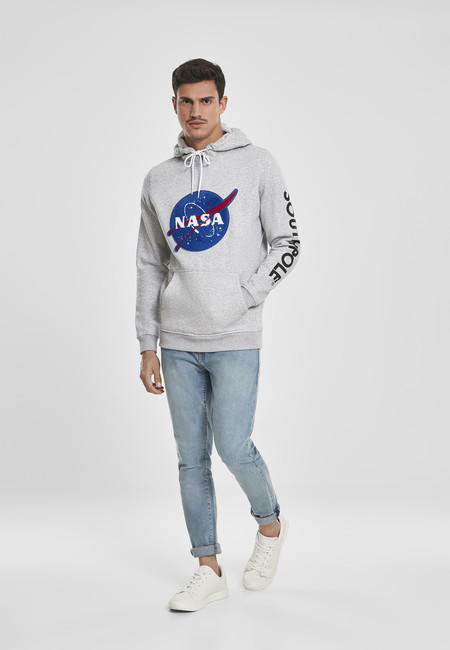 Urban Classics Southpole NASA Insignia Logo Hoody heather