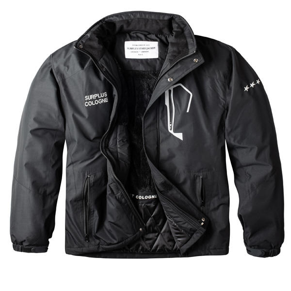 Téli kabát Surplus Stars Winter Jacket Black Gangstagroup