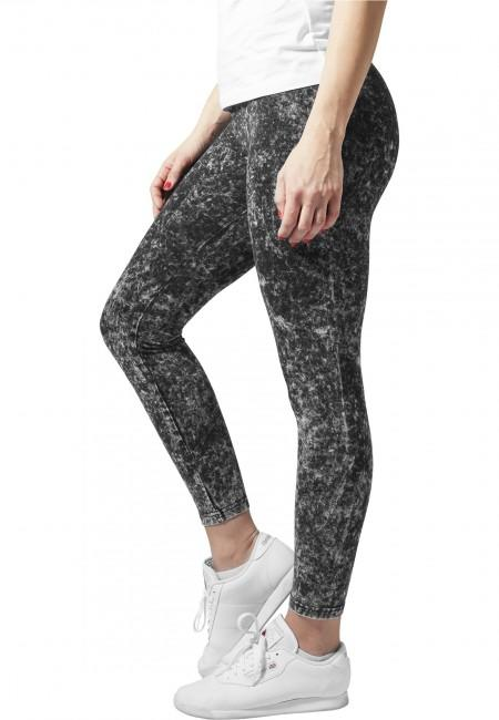 Urban Classics Ladies Acid Wash Leggings darkgrey