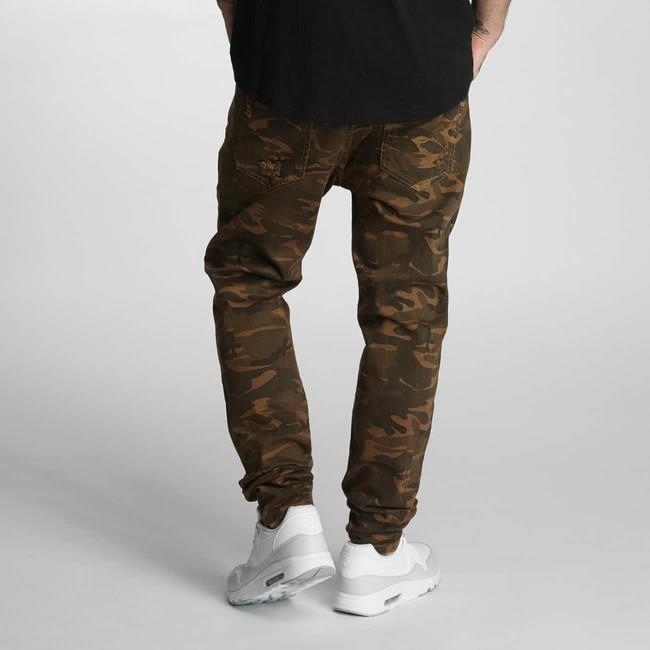 Genius Antifit Jeans Brown Camouflage gangstagroup