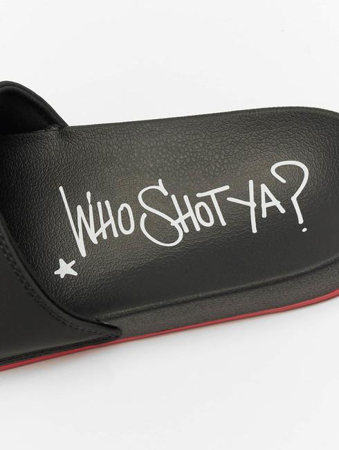 Who Shot Ya? / Sandals Logo in black