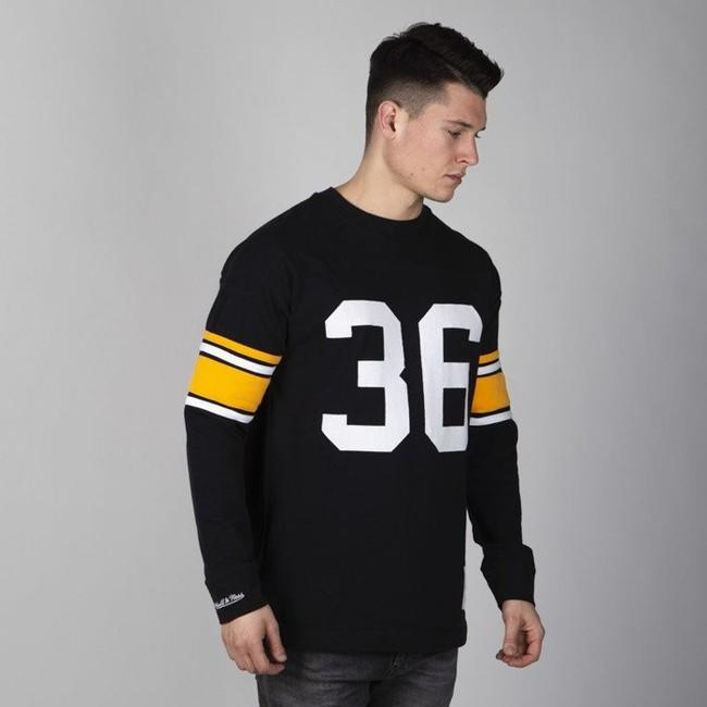 Mitchell & Ness longsleeve Pittsburgh Steelers black Name & Number LS
