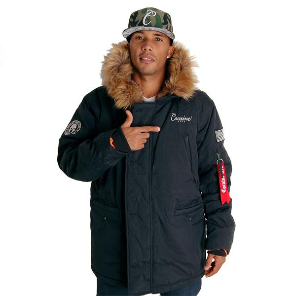 Cocaine life Basic Parka Téli kabát Fekete - Gangstagroup.hu ... cc530438e9