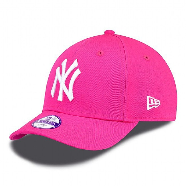 GYEREK SAPKA NEW ERA 9FORTY YOUTH MLB LEAGUE BASIC NEW YORK YANKEES PINK  WHITE 9fc8399d74