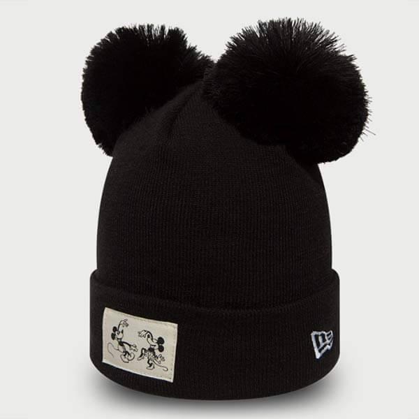 Gyerek Téli Sapka New Era Youth Disney Cuff Minnie Mouse Knit Black ... 962dd3e829