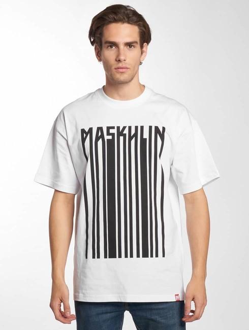 maskulin t shirt barcode in white online hip hop fashion store. Black Bedroom Furniture Sets. Home Design Ideas