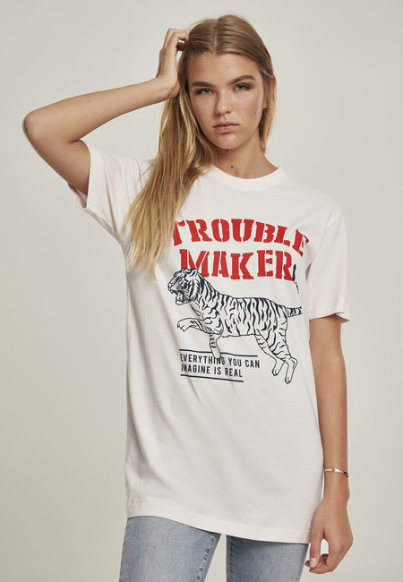 Mr. Tee Ladies Troublemaker Tee Pink Marshmallow