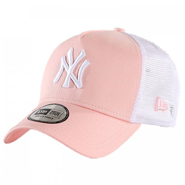 Sapka New Era 9Forty A Frame Trucker Essential NY Yankees Pink White ... 25ce324241