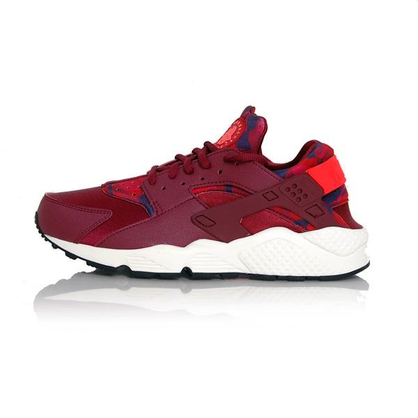 Nike WMNS Huarache Run Printed Deep Garnet Bright Crimson 725076-602
