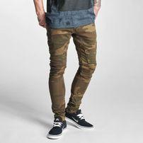 2Y Slim Fit Jeans Brown Camouflage
