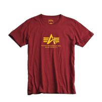 Férfi póló Alpha Industries Basic T-Shirt Burgundy