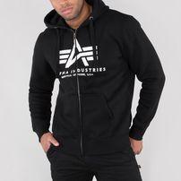 Férfi pulóver Alpha Industries Basic Zip Hoody Black