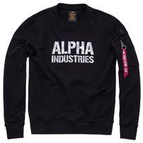 Férfi pulóver Alpha Industries Camo Print Sweat Black White