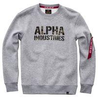 Férfi pulóver Alpha Industries Camo Print Sweat Grey Heather
