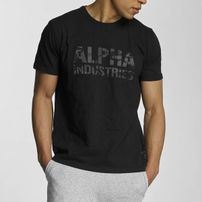 Férfi póló Alpha Industries Camo Print Tee Black Black
