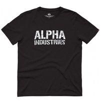Férfi póló Alpha Industries Camo Print Tee Black White