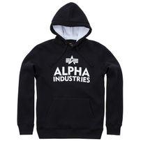 Férfi pulóver Alpha Industries Foam Print Hoody Black White