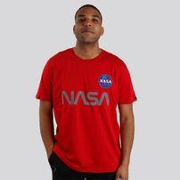Férfi póló alpha industries NASA Reflective T-Shirt Red