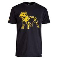Amstaff Logo Shirt - schwarz/gelb