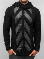Bangastic / Hoodie Knitted in black