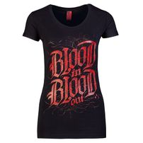 Blood In Blood Out Blood Logo Women T-Shirt - schwarz