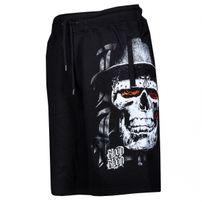 Blood In Blood Out Skull Hat Sweatshorts Black