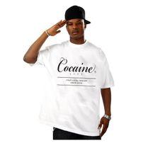 Férfi Póló Cocaine Life Basic Large Logo Tee White
