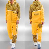 Dangerous DNGRS All Over II Sweat Suit Yellow Black