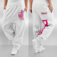 Dangerous DNGRS Flower Sweatpants White