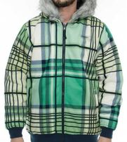 Dangerous DNGRS Reversible Plaid Jacket Green Navy