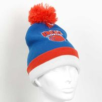 Mitchell & Ness NBA Jersey Stripe Cuff W Pom New York Knicks Beanie MN-NBA-KE31Z