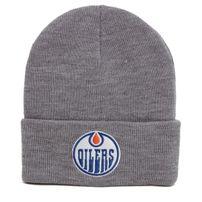 Téli Sapka Mitchell & Ness NHL Team Logo Cuff Knit Beanie Edmonton Oilers