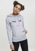 Mr. Tee Ladies Eyelashes Hoody heather grey