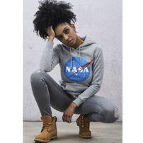 Mr. Tee Ladies NASA Insignia Hoody heather grey
