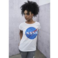 Mr. Tee Ladies NASA Insignia Tee white