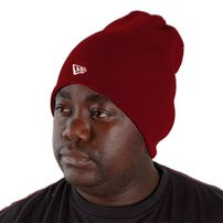 New Era Basic Long Knitt Beanie Maroon