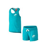 Nike Gym Vitage Tank And Shorts Set Little Girls turquiose 728841-418