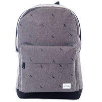 Spiral Crosshatch Bird Backpack Bag Charcoal