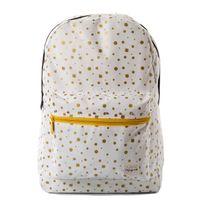 Spiral Gold Polka Dot Backpack Bag