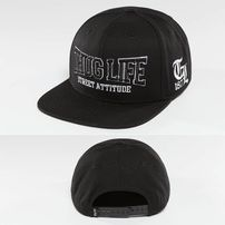 Thug Life Attitude Snapback Cap Black