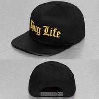 Thug Life Golden Logo Snapback Cap Black