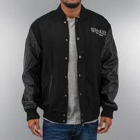 Thug Life Street Fighting College Jacket Black