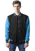 Urban Classics 2-tone College Sweatjacket blk/tur