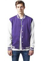 Urban Classics 2-tone College Sweatjacket pur/wht