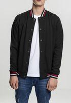 Urban Classics 3-Tone College Sweat Jacket blk/wht/firered